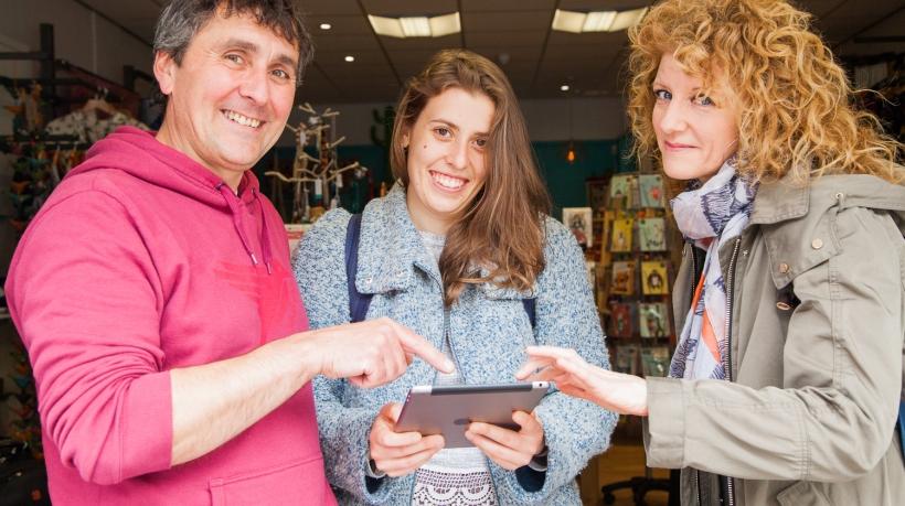 Grant Reid, Jitka Fleglova and Charlotte Fisher at Calluna Ethical Living.